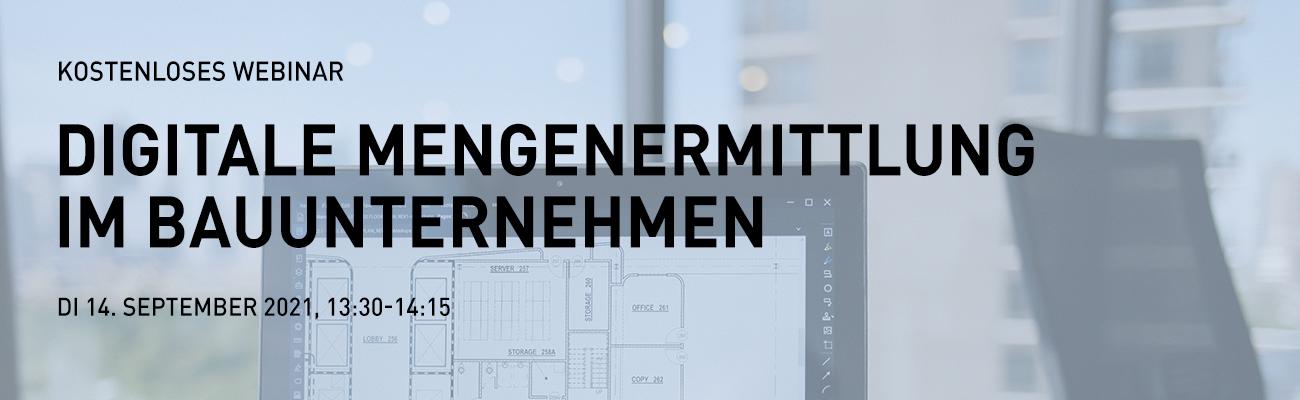 Digitale Mengenermittlung im Bauunternehmen